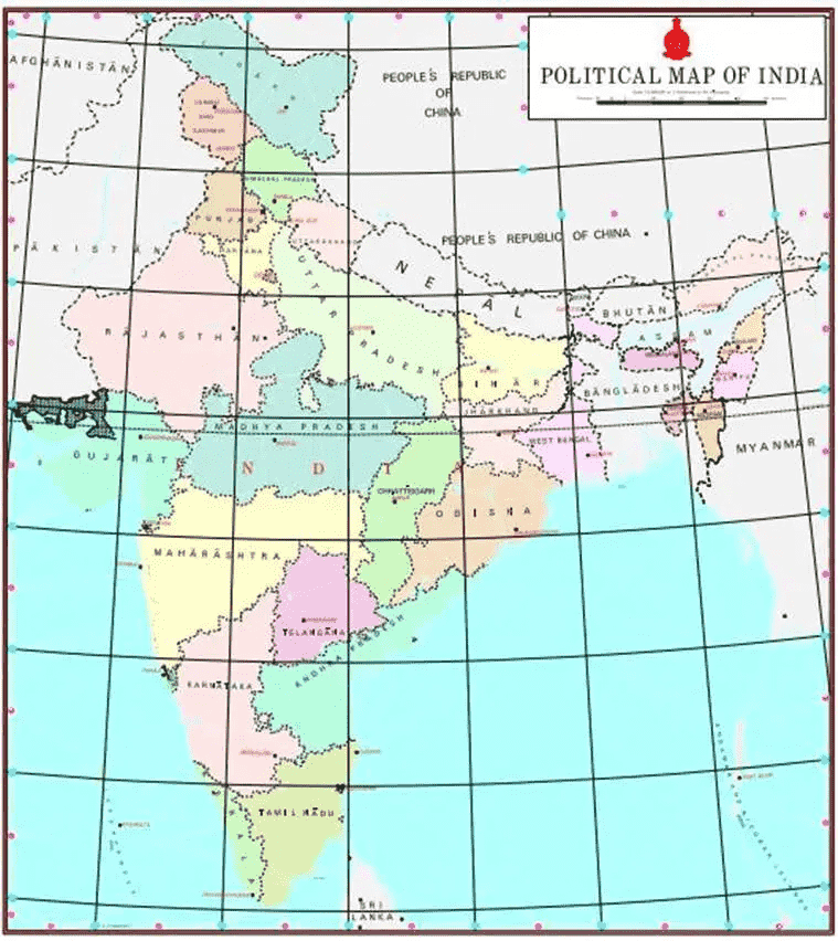 recent map of india 2020 New Map Of India With States And Capitals Entri Blog recent map of india 2020