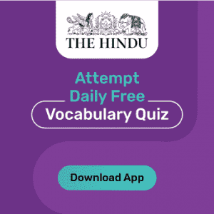 the hindu vocab banner