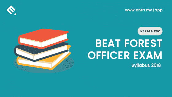 Kerala PSC Beat Forest Officer Examination Syllabus 2018