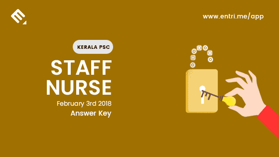 Kerala PSC Staff Nurse Exam Question Paper and Answer Key