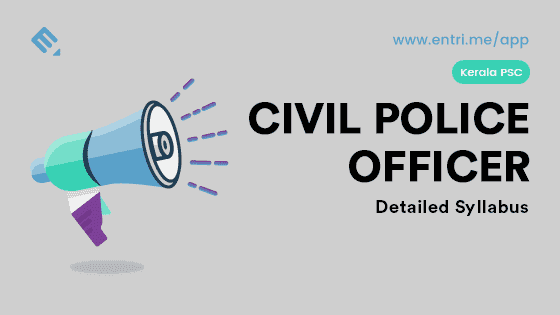 KPSC Civil Police Officer/ Women Civil Police Detailed Syllabus 2018
