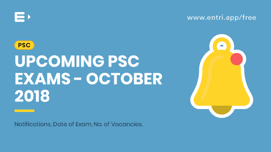 PSC Exam Program October 2018