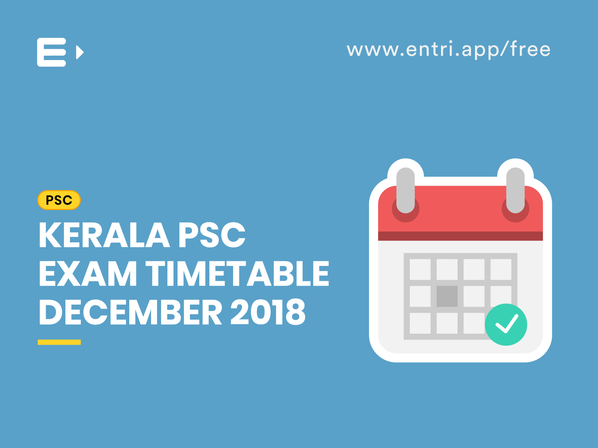 Kerala PSC Exam Timetable December 2018. Neenu. Posted on October 5, 2018  October 9, 2018; 1 minute read
