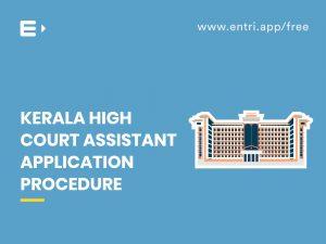 High Court Assistant Application Procedure