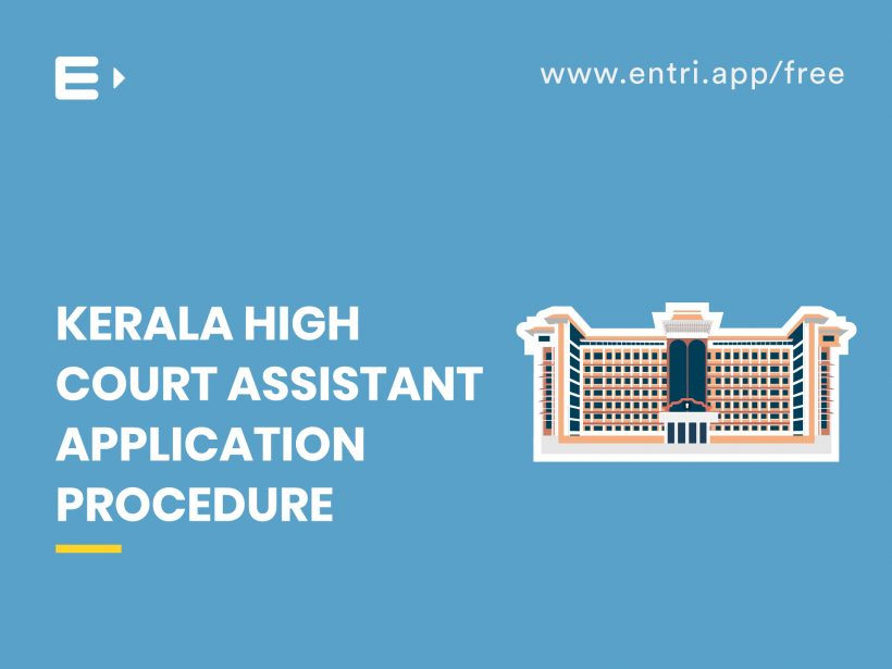 High Court Assistant Application Procedure