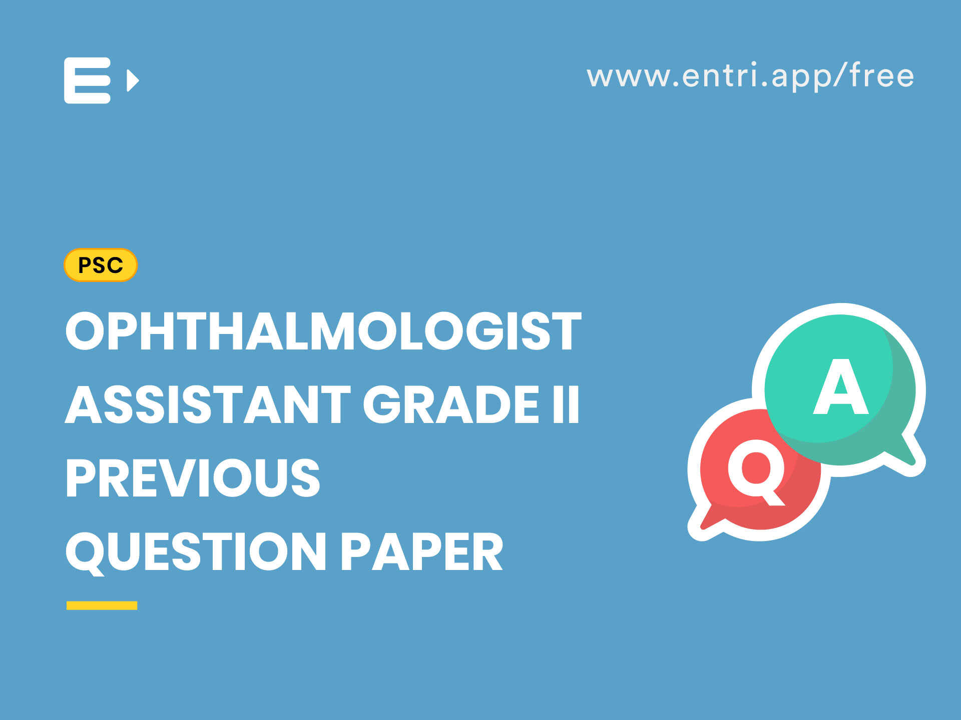 Kerala PSC Ophthalmic Assistant Gr II Previous Question Paper