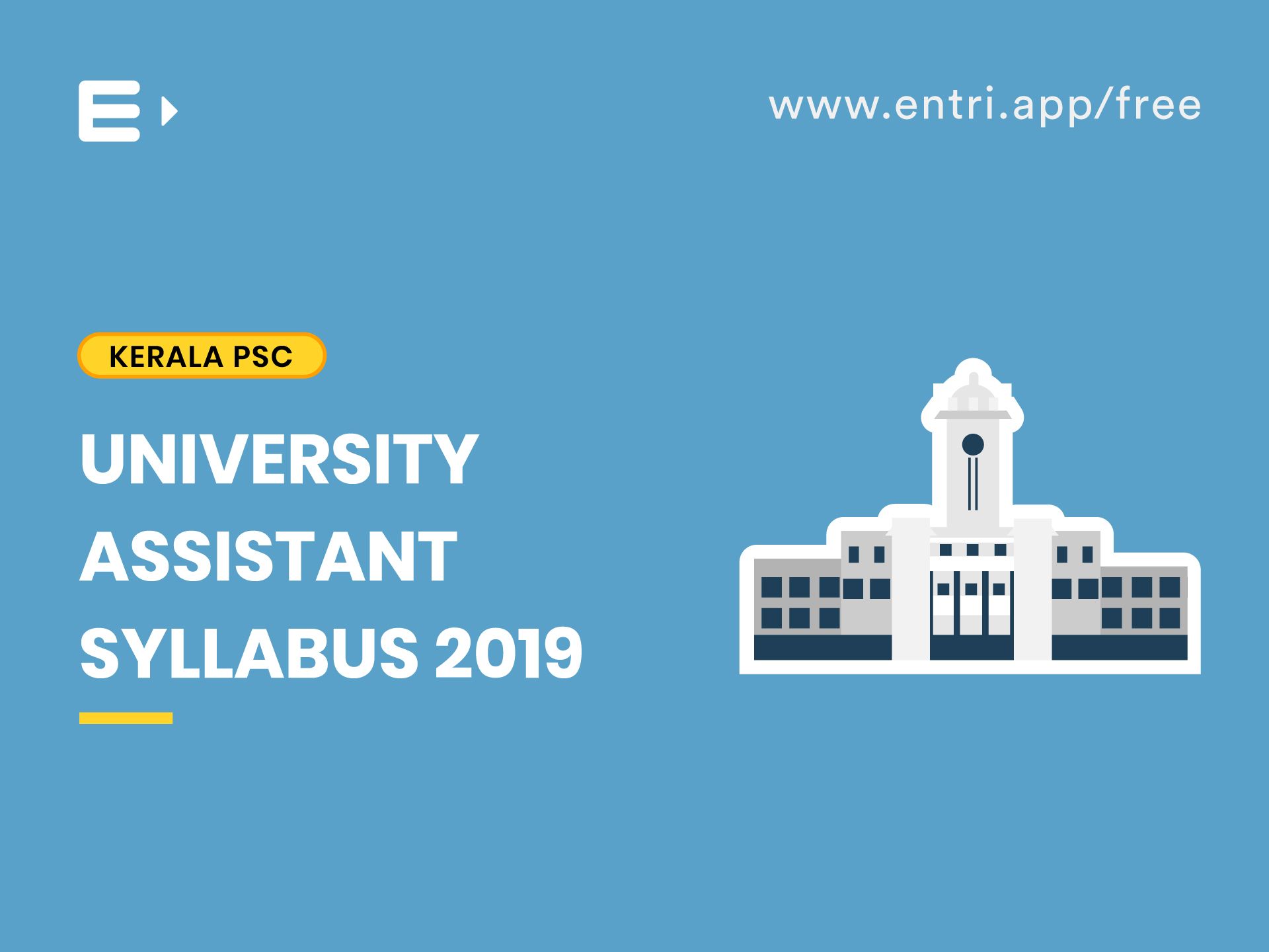 University Assistant Syllabus 2019 - Kerala PSC - Entri Blog
