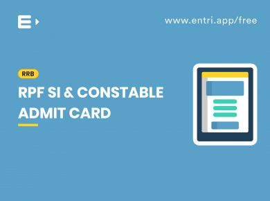 RPF SI and Constable Admit Card