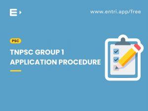 TNPSC group I application procedure
