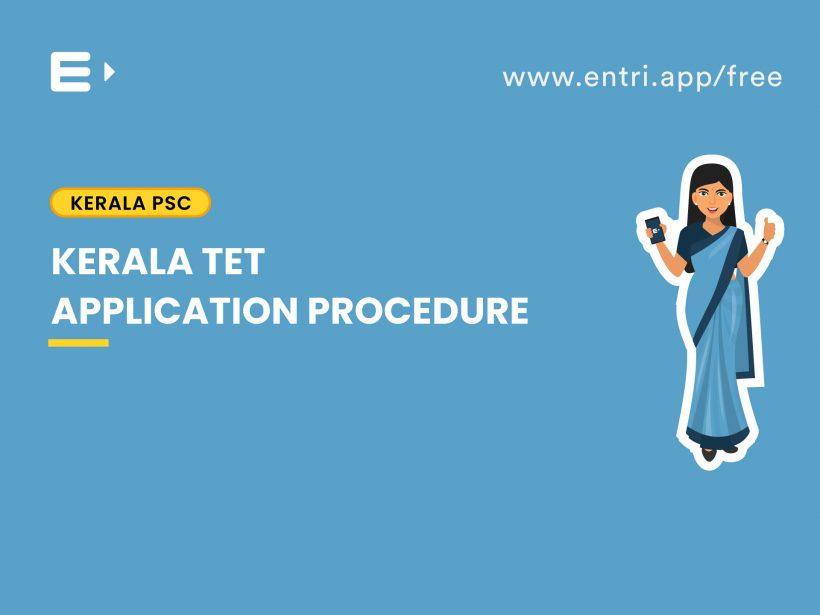 Kerala TET Application Procedure