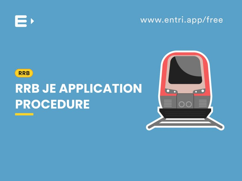 RRB JE Application procedure