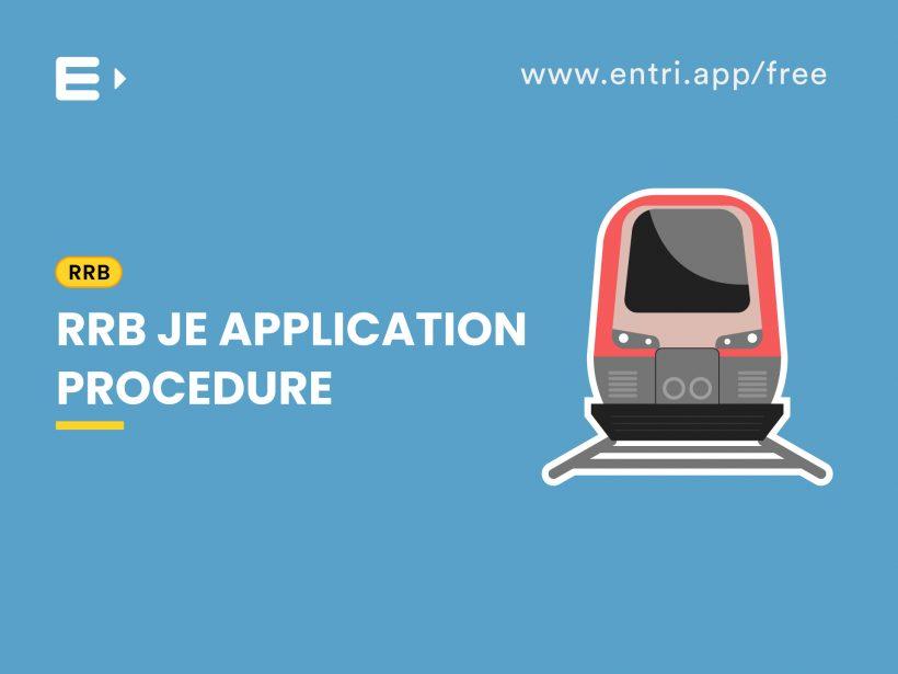 RRB JE Application procedure
