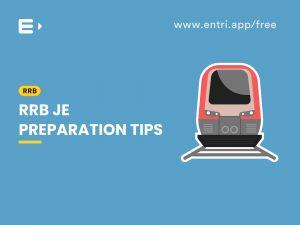 RRB JE Preparation tips