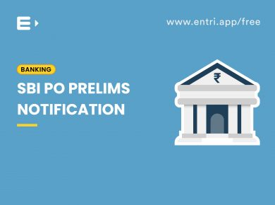 SBI PO prelims notification