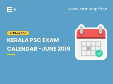 Kerala PSC time table june