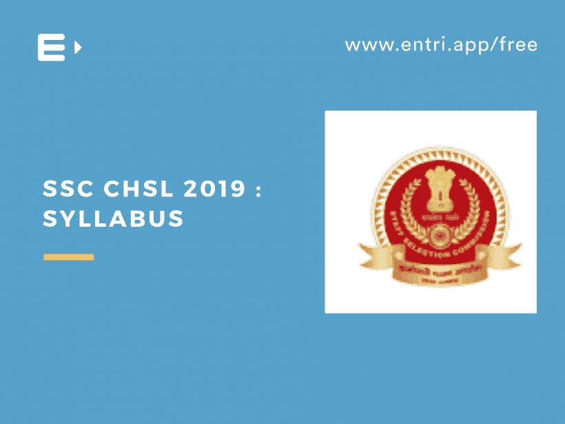 ssc chsl 2019 syllabus
