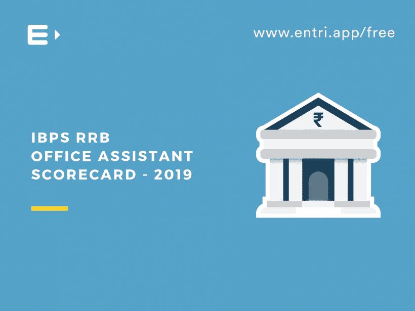 IBPS RRB Office Assistant Scorecard 2019