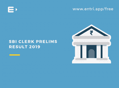 SBI Clerk Prelims Result 2019