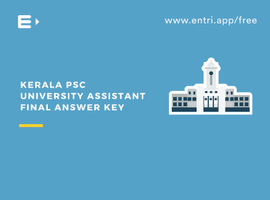Kerala PSC University Assistant Final Answer Key 2019