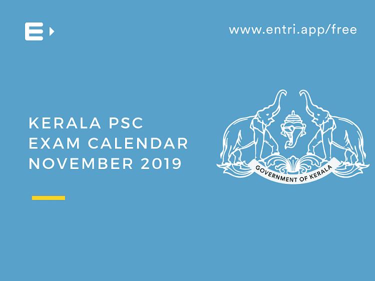 Exam Calendar November 2019