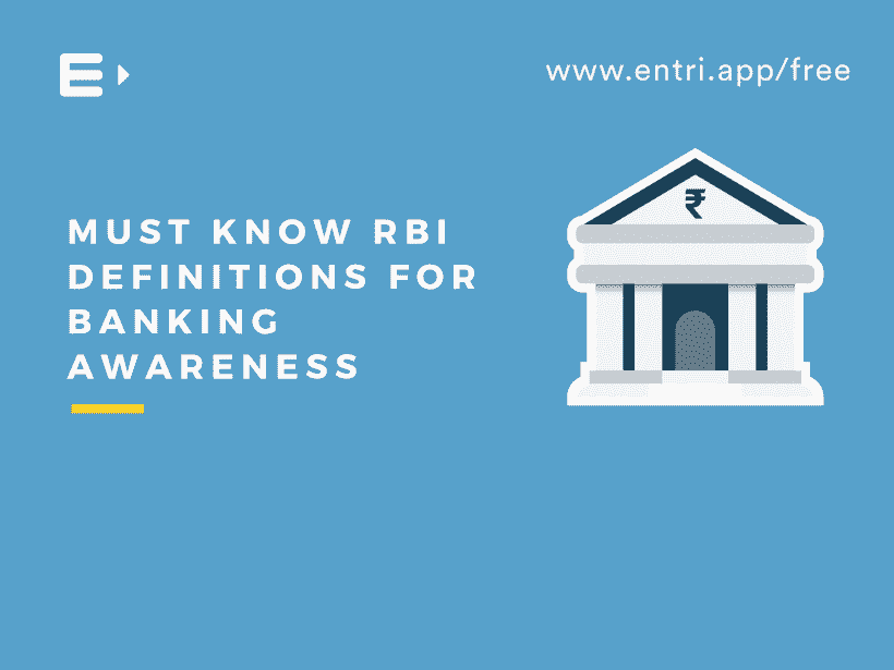 Must Know RBI Definitions for Banking Awareness