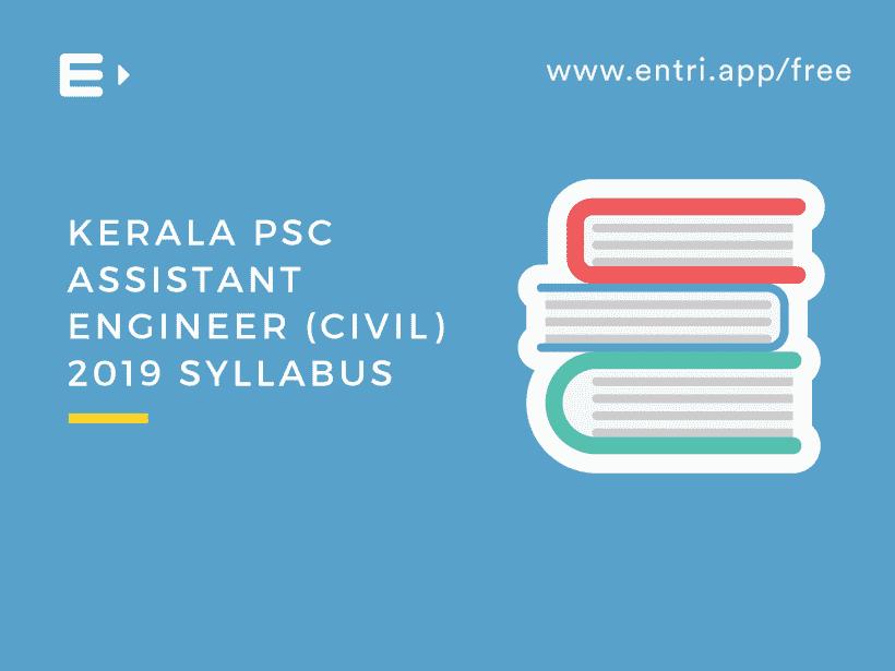 PSC Assistant Engineer Civil 2019 Syllabus