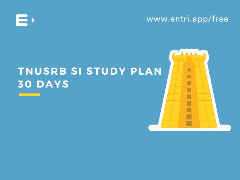 TNUSRB STUDY PLAN