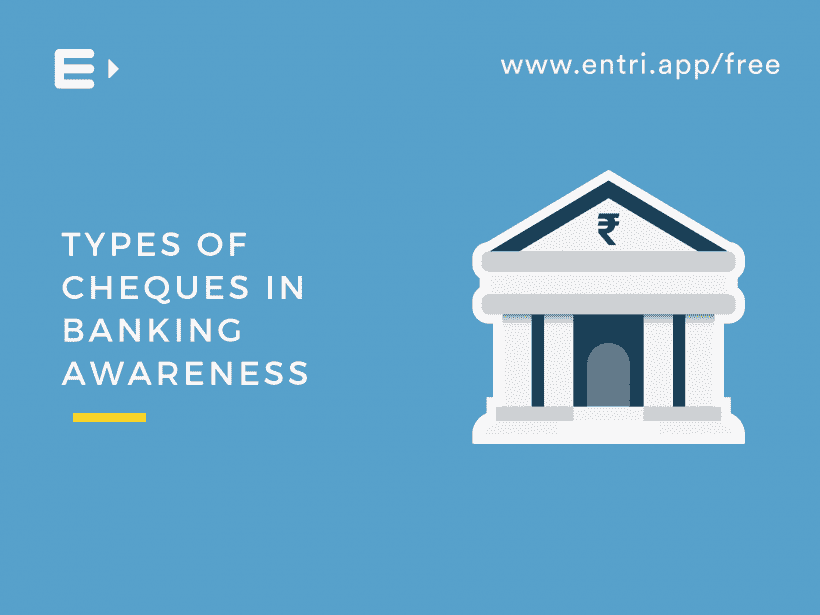 Types of Cheques in Banking Awareness