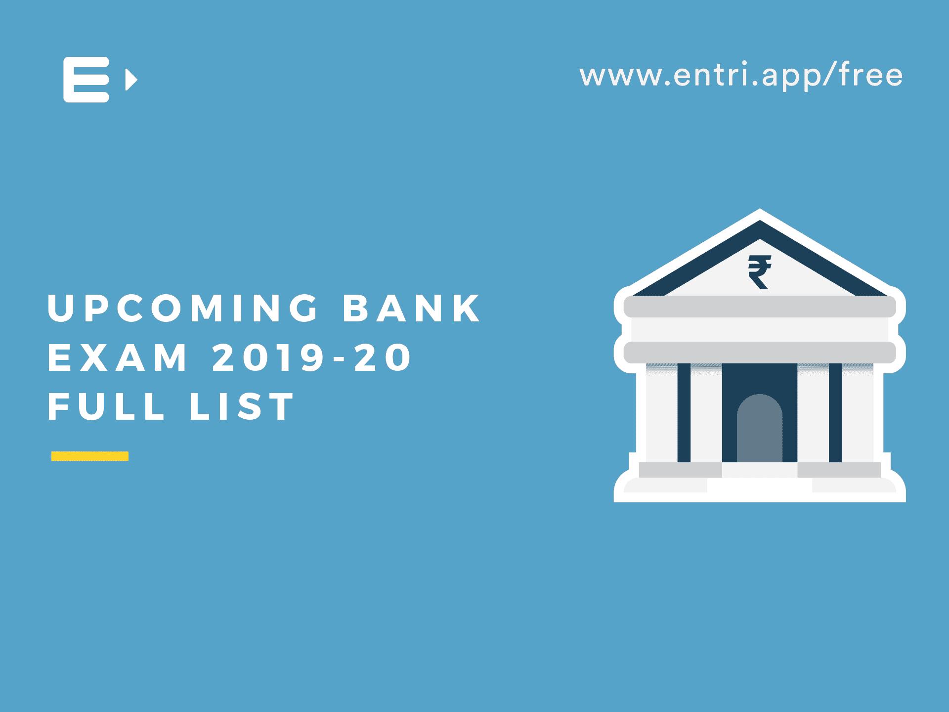 upcoming indian bank exams 2014